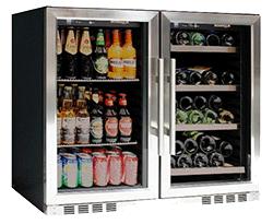 KingsBottle Vibration Free Beverage and Wine Cooler