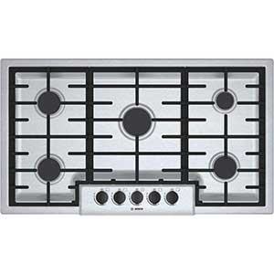 Bosch 36 inch Stainless Steel Gas Sealed Burner Cooktop