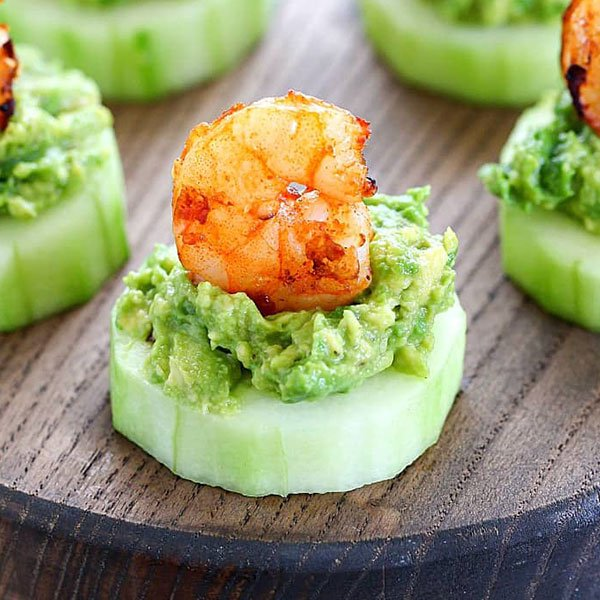 Avocado Shrimp Cucumber Appetizer