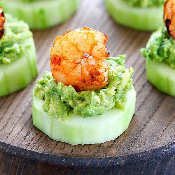 Avocado Shrimp Cucumber Appetizer