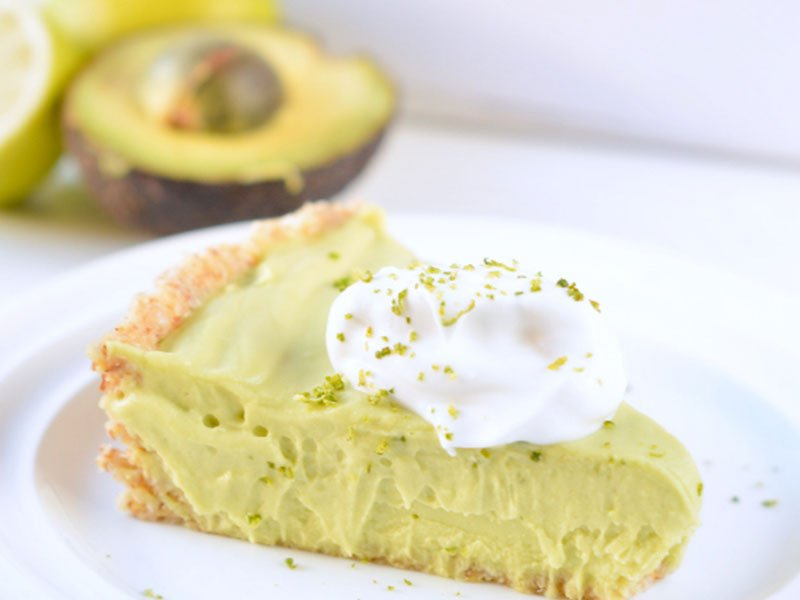 Avocado key lime pie