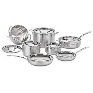 Best Overall Cuisinart Multiclad Stainless Steel Cookware