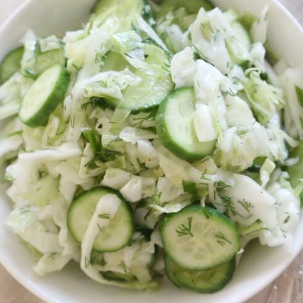 Keto Cabbage Cucumber Salad