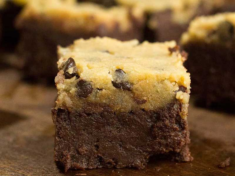 Chocolate Chips Cookie Dough Brownies