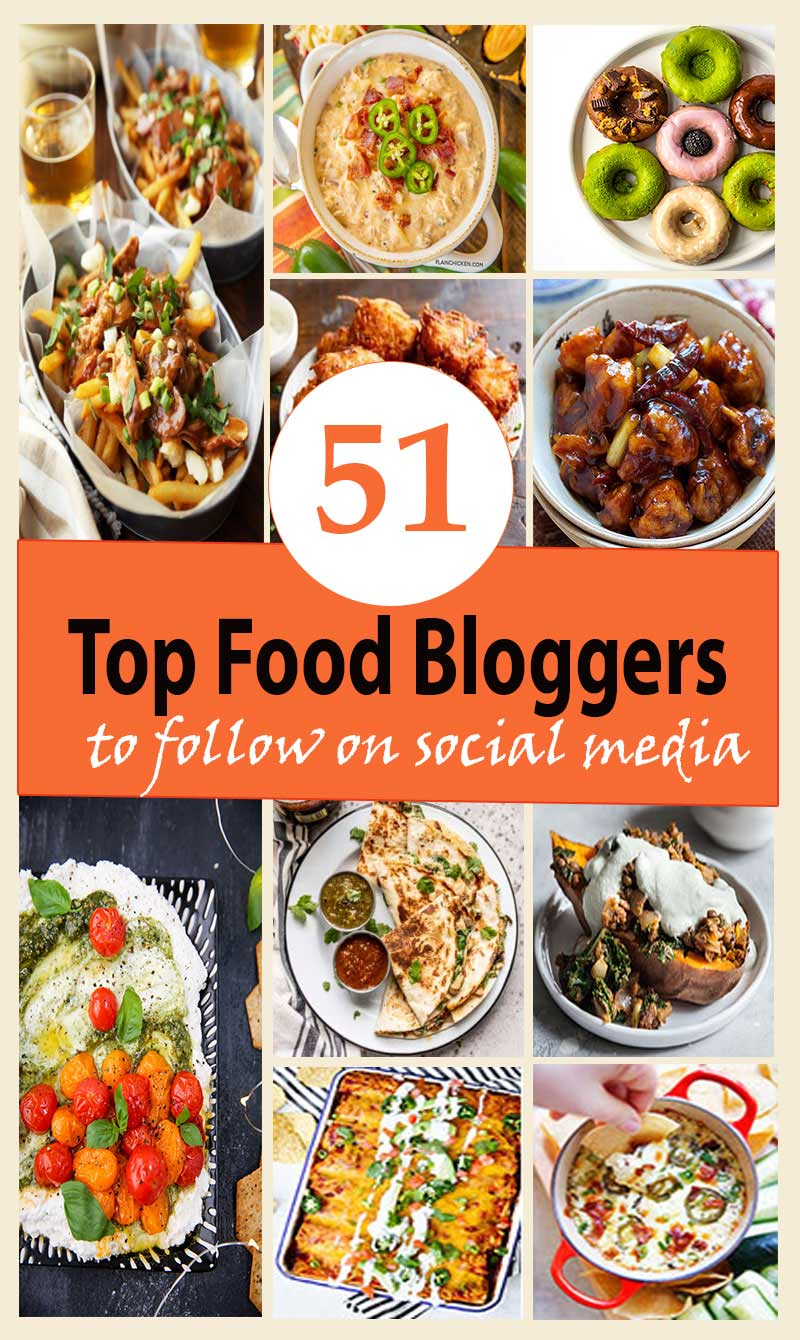Top Food Bloggers to follow on social media