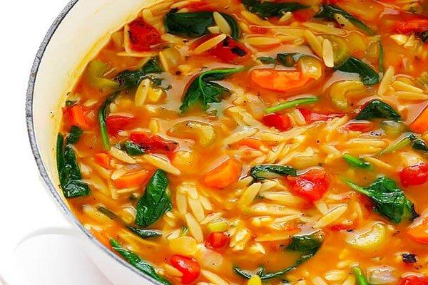 Italian Orzo Spanish Soup
