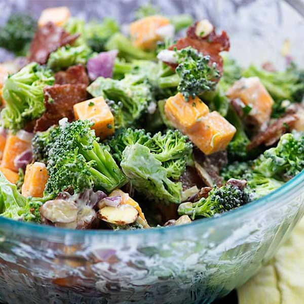 Keto Broccoli Salad With Bacon