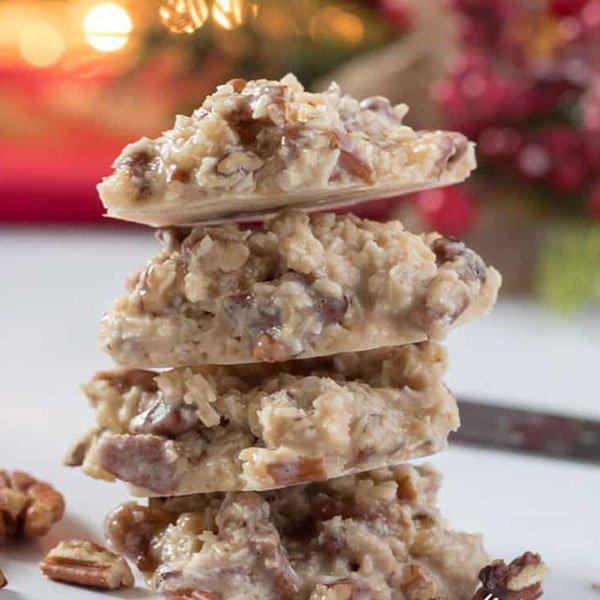 Keto Praline No-Bake Cookies