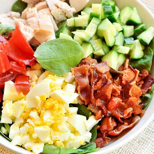 Keto Spinach Cobb Salad