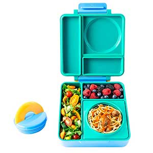 OmieBox 3 Compartment Bento Lunch Box