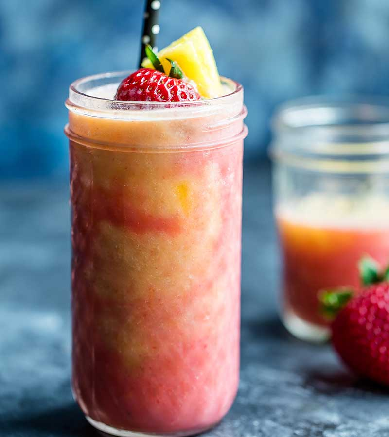Pineapple Strawberry Swirl Smoothie