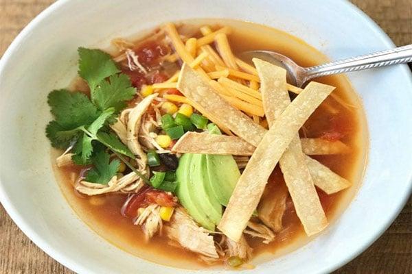 Pot Chicken Tortilla Soup