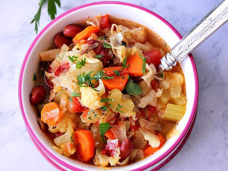 Pot Weight Vegetable Detox Soup