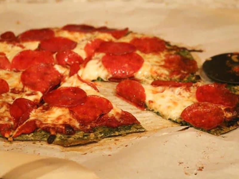 Spinach Pizza Crust