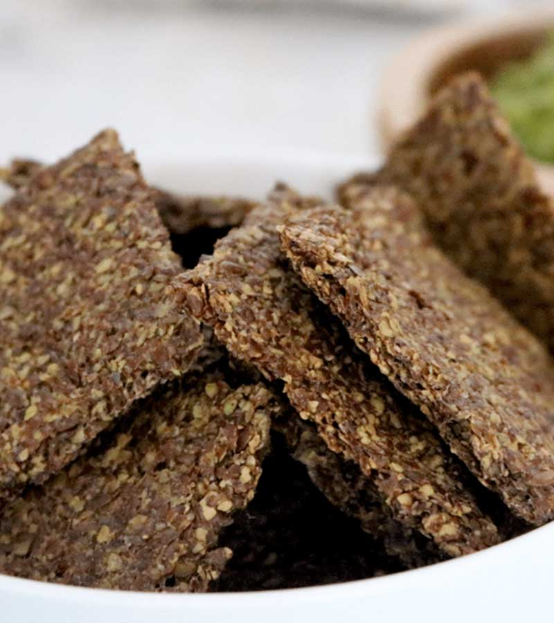 Vegan Keto Flax Crackers