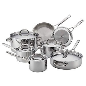 Anolon Tri-Ply Clad Stainless Cookware Set