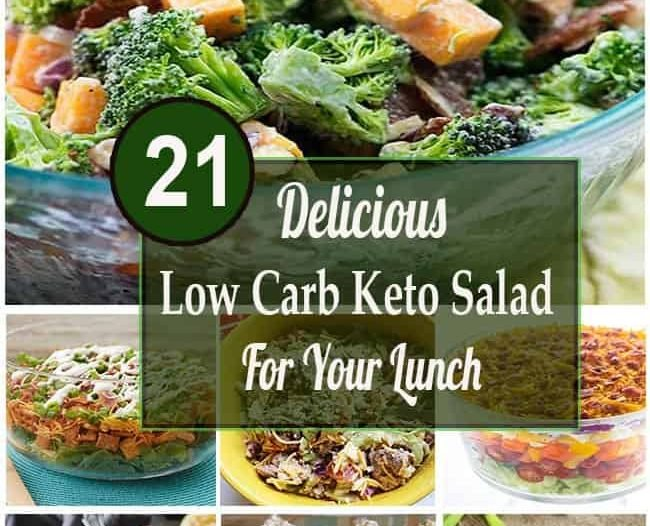 delicious low carb keto salad for your lunch