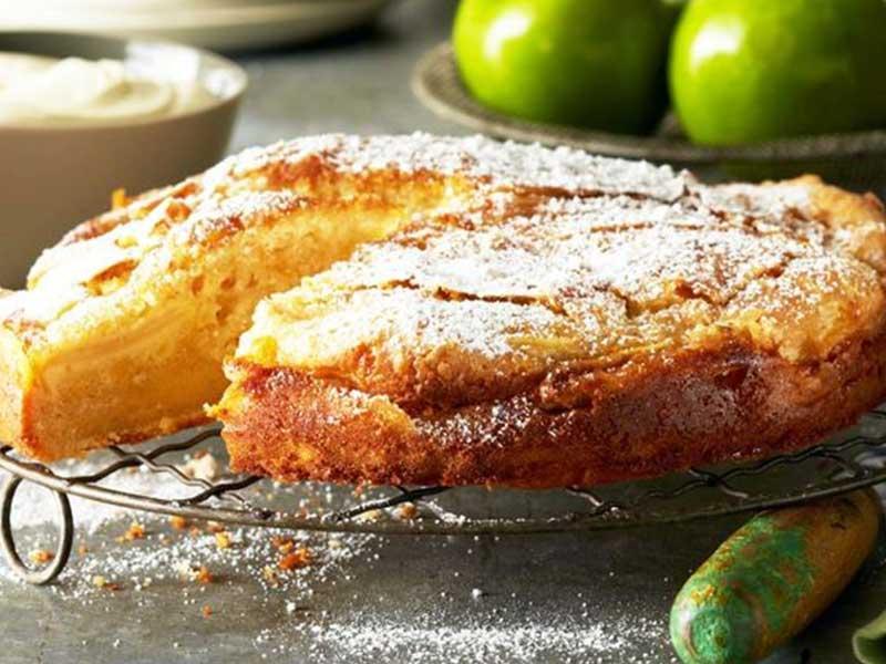 Cinnamon custard cake