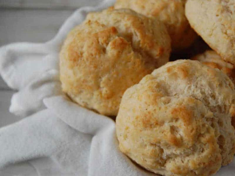 Coconut Oil Drop Biscuits