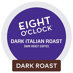 eight o'clock coffee dark italian Roast k cup coffee