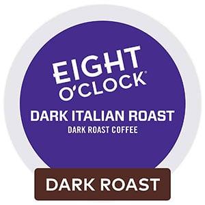 eight o'clock coffee dark italian Roast k cup coffee