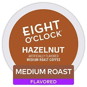 eight o'clock coffee hazelnut k cup