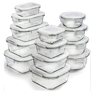glass storage containers with lids by prep naturals