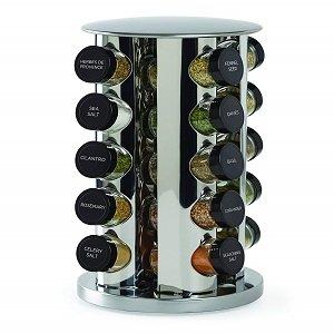 kamenstein revolving 20 jar countertop spice rack