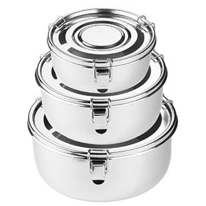 premium stainless steel food storage containers by the fresh locker