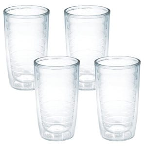 tervis 4-pack tumbler 16 ounce clear
