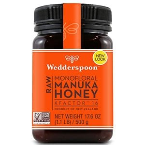 wedderspoon raw premium manuka honey