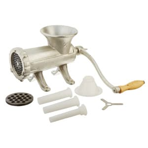 weston #22 manual tinned meat grinder and sausage stuffer