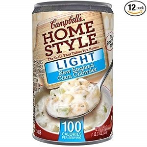campbell's homestyle light new england clam chowder