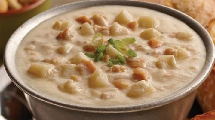 varities clam chowder