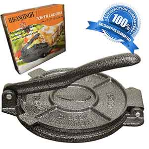 Eleganceinlife cast iron tortilla press
