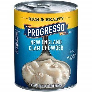 progresso soup rich and hearty clam chowder