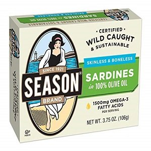 season's sinless and boneless Sardines