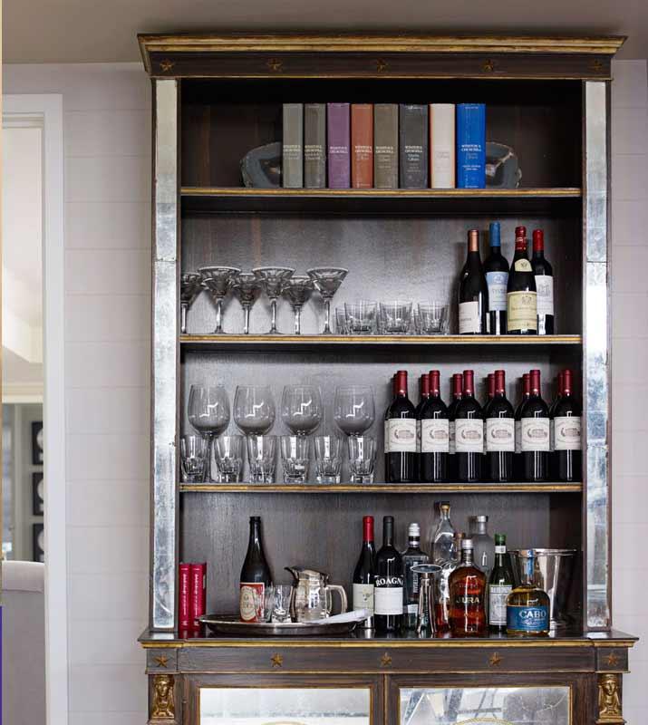 Shelves for home bar