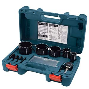 bosch hdg11 11 piece diamond hole saw set