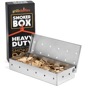 Grillaholics smoker box for gas grill