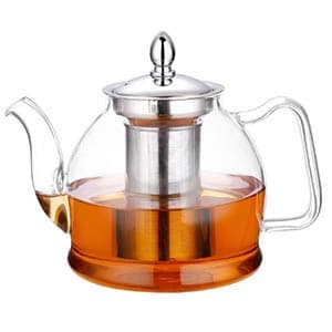 hiware 1000 ml glass teapot with removable infuser
