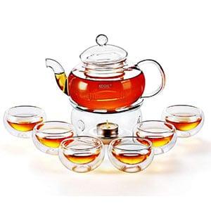 kendal 27 oz glass filtering tea maker teapot