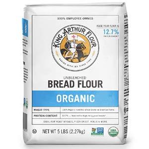 king arthur flour 100%s organic unbleached bread flour