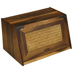mountain woods extra large acacia wood bread box