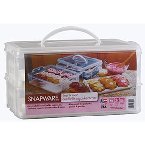 snapware snap n stack large 2 layer