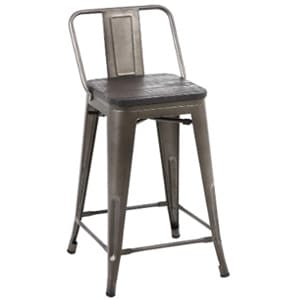 buschman counter height metal bar stools with medium back