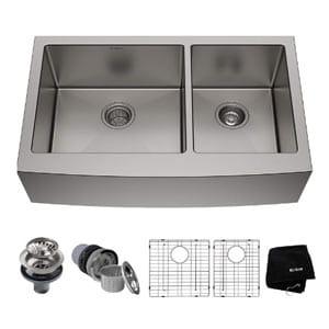 kraus khf203- 33 inch farmhouse kitchen sink