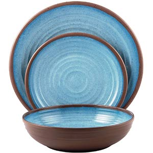 melange melamine dinnerware sets- 12 piece