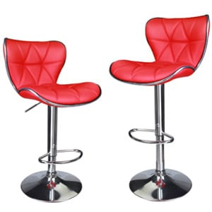 leopard shell back adjustable swivel bar stools