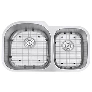ruvati double bowl kitchen sink- rvm4600